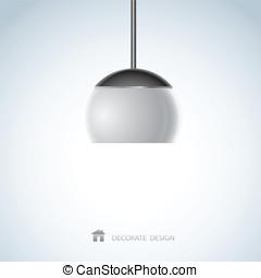 lamp design of vector illustration
