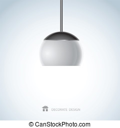 lamp design of vector illustration