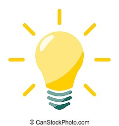 Lamp Flat Icon isolated on white background. Vector Illustration.