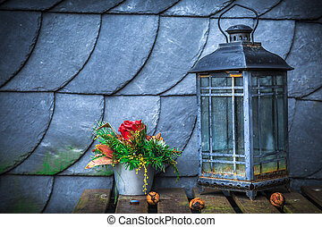 Lamp Flower and Roof
