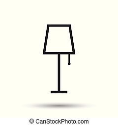 Lamp furniture icon. Lamp vector illustration on white background.
