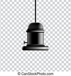 Lamp Holder vintage style isolated on transparent background...