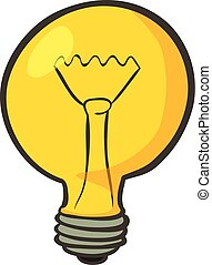 Lamp icon, cartoon style