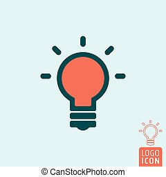 Lamp icon isolated