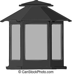 lamp icon on white background