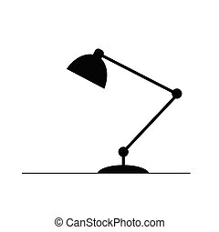 lamp illustration in black