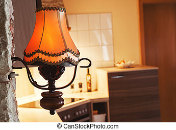lamp in a kitchen