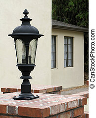 Lamp In Front Of House