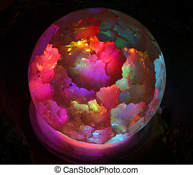 Lamp in the form of bright colored