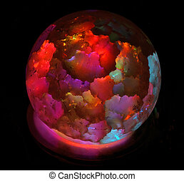 Lamp in the form of bright colored ball