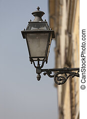lamp in the old town