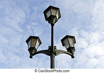 Lamp in the park on foot.