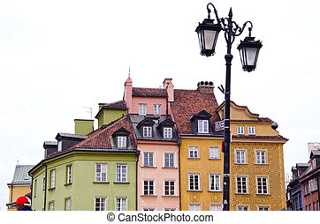 lamp in Warsaw old town