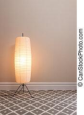 lamp, kamer, lege, cozy