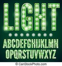 lamp, lettertype