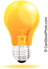 Lamp light icon cartoon vector