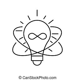 Lamp line icon on white background. Idea symbol. Isolated vector lined illustration for web or app design.