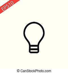 Lamp line icon on white background. Vector illustration.