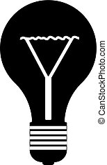 Lamp line icon on white background