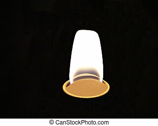 Lamp Lite - The flame from and old kerosene storm lantern