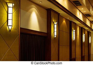 Lamp luxury style on wall.