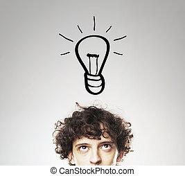lamp, man