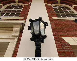 lamp on a historic building