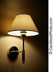 Lamp on a wall