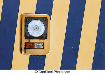 Lamp on a yellow blue background
