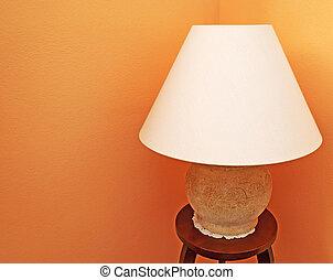 lamp on orange