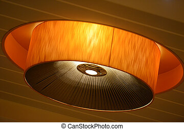 Lamp on the ceiling