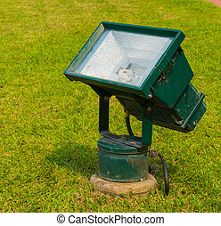 Lamp on the green grass