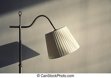 Lamp on wall background