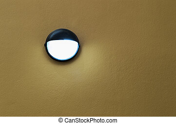 Lamp on wall