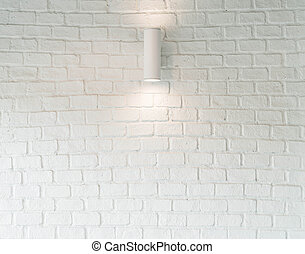 lamp on white wall