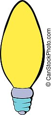 Lamp oval shape icon cartoon