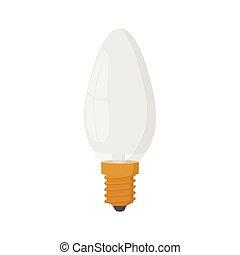 Lamp oval shape icon, cartoon style