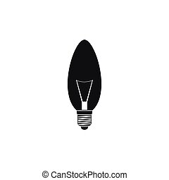 Lamp oval shape icon, simple style