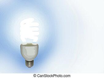 Lamp over white