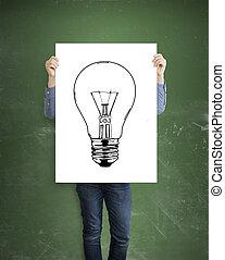 lamp, plakkaat, tekening