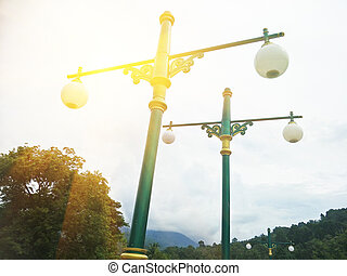 lamp post in the hill