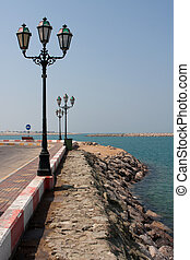 Lamp Post - Lamp post by a gulf at day