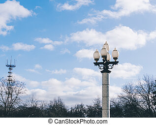 Lamp Post On Street