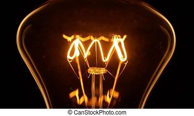 lamp., -, powoli, 4k, światła, rozżarzony, do góry
