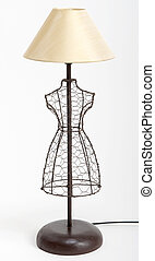 Lamp shade - Lamp in a shape of dress with yellow lamp shade...