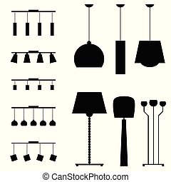 lamp silhouette for house