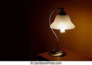 Lamp - Small reading lamp in the night