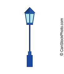 lamp, straat, lightpost, pictogram