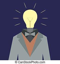 Lamp suit man