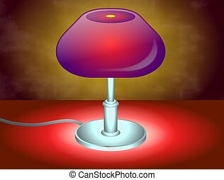 Table lamp illustration